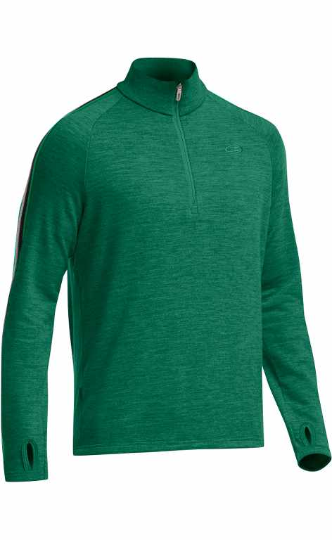 Icebreaker Coronet LS Half Zip Bottle/Lucky-30