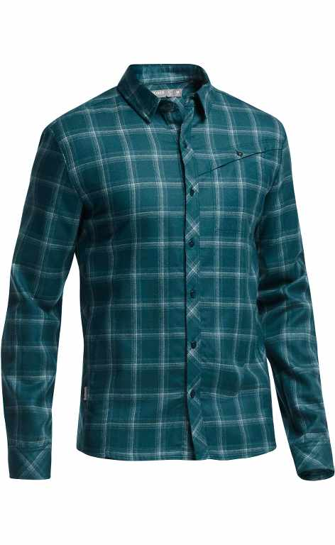 Icebreaker Departure LS Shirt Plaid Night-30