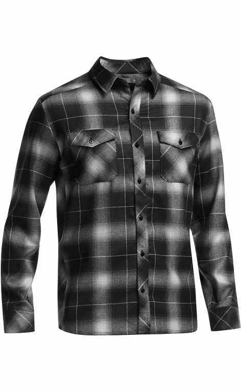 Icebreaker Lodge LS Shirt Plaid Black-30