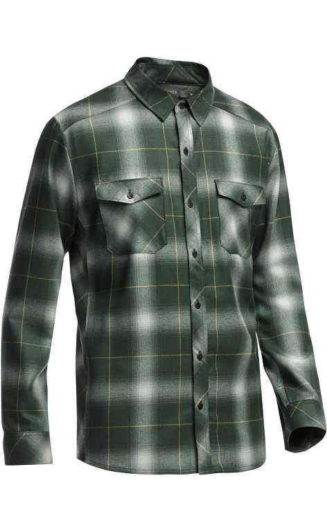 Icebreaker Lodge LS Shirt Plaid Kale-30