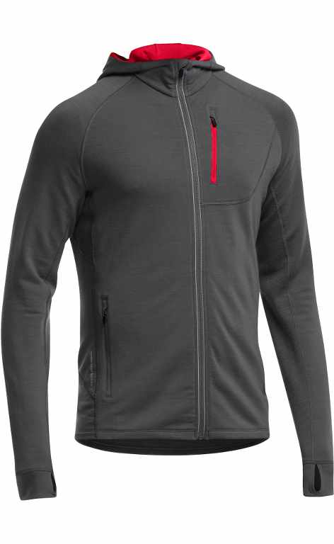 Icebreaker Quantum LS Zip Hood Monsoon/Rocket-30