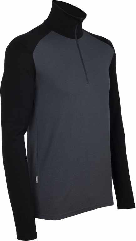 Icebreaker Tech Top LS Half Zip Monsoon/Black-30