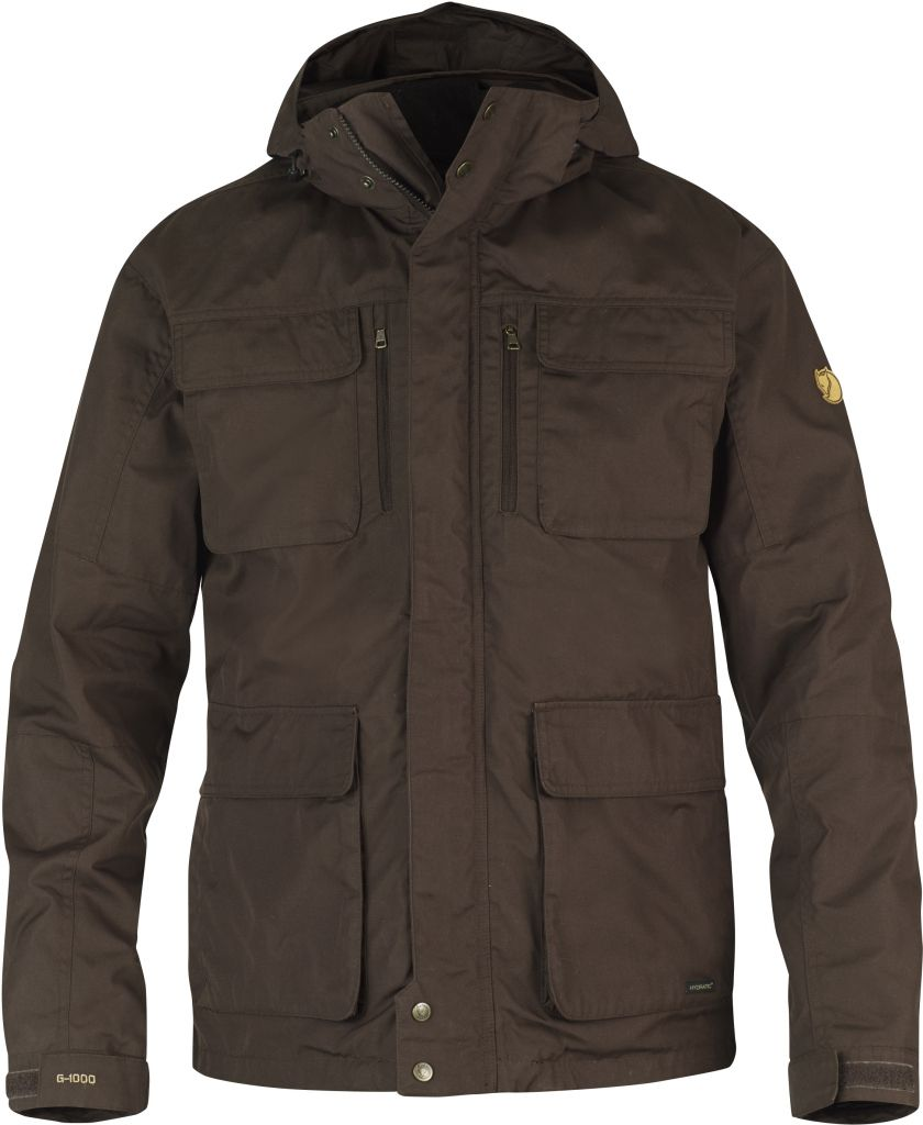 FjallRaven Montt 3 in 1 Hydratic Jacket Black Brown-30