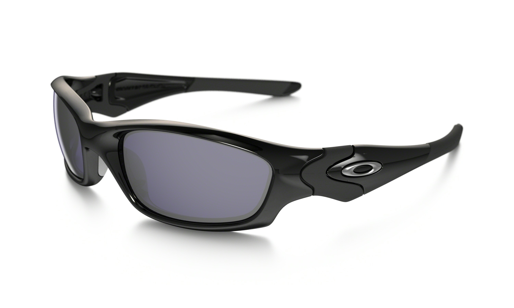 Oakley Straight Jacket Frame: POLISHED BLACK Lens: BLACK IRIDIUM POLARIZED-30