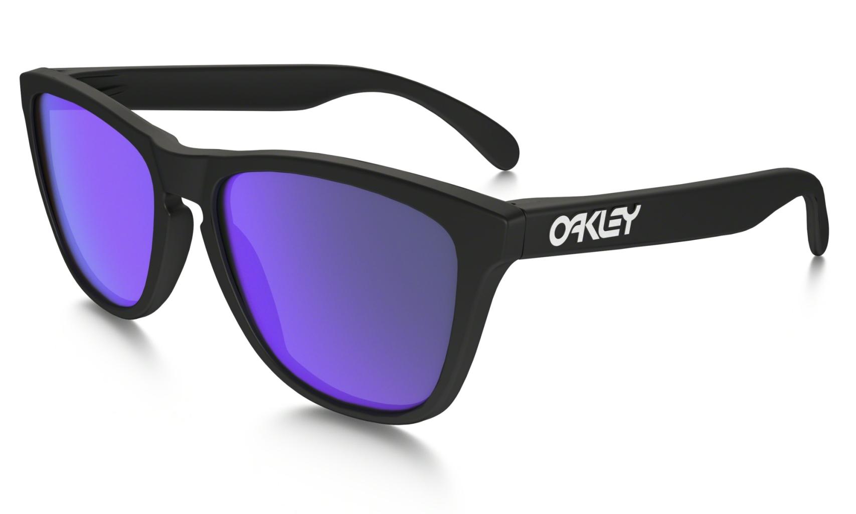 Oakley Frogskin Matte Blk w/ Violet Irid-30