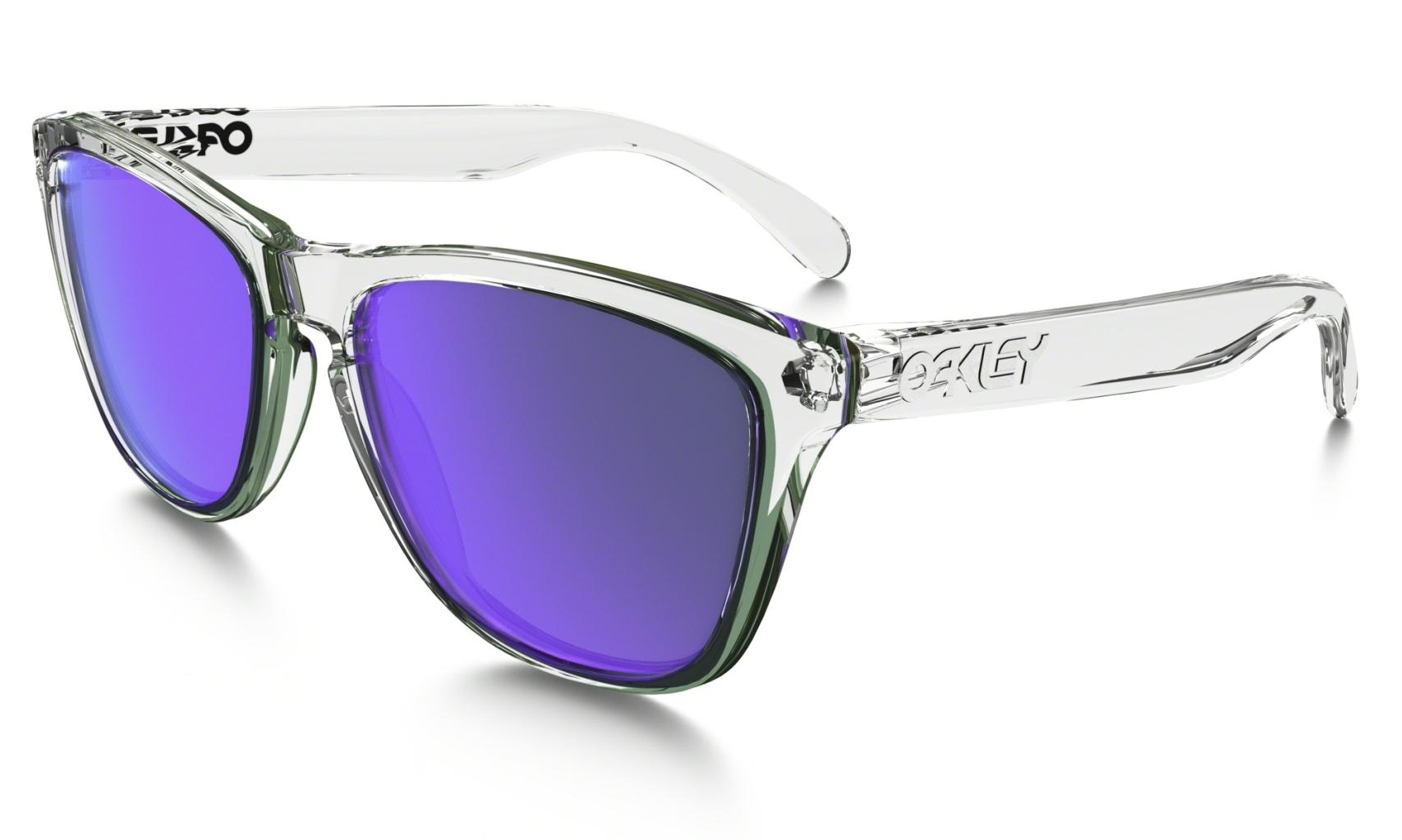 Oakley Frogskin Pol Clear w/ Violet Irid-30