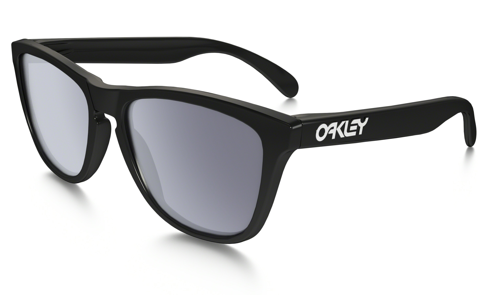 Oakley Frogskin Polished Black w/ Grey-30