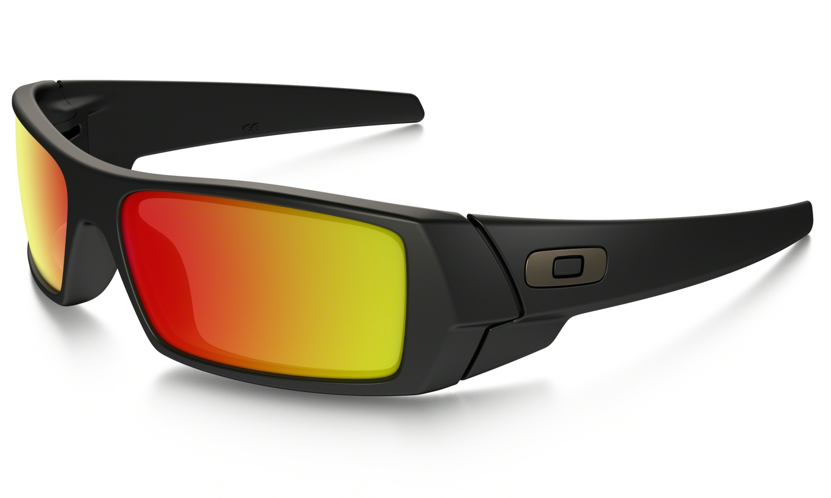 Oakley Gascan Matte Black w/Ruby Iridium-30