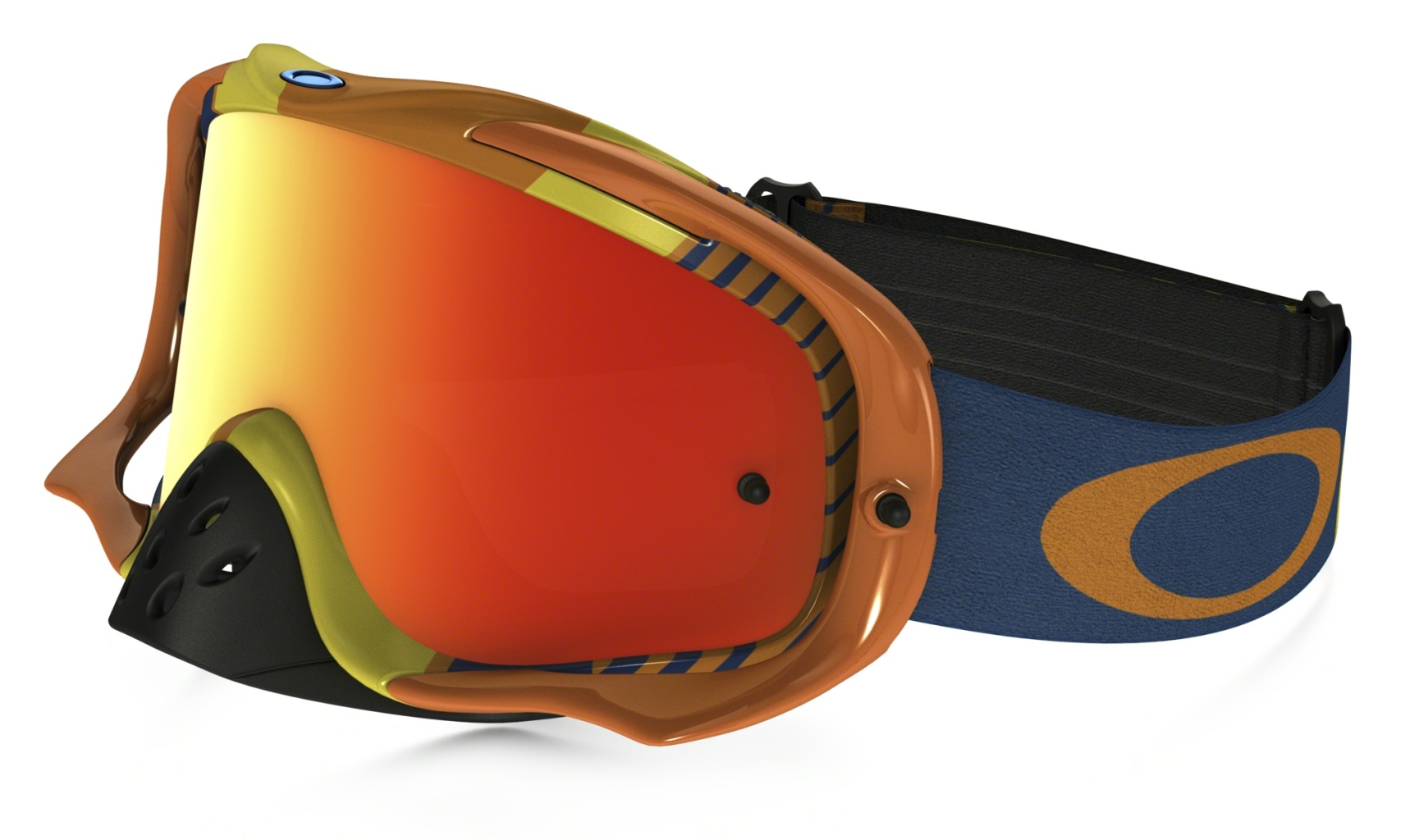 Oakley Crowbar Mx Frame: BIOHAZARD ORANGE/BLUE Lens: FIRE IRIDIUM-30