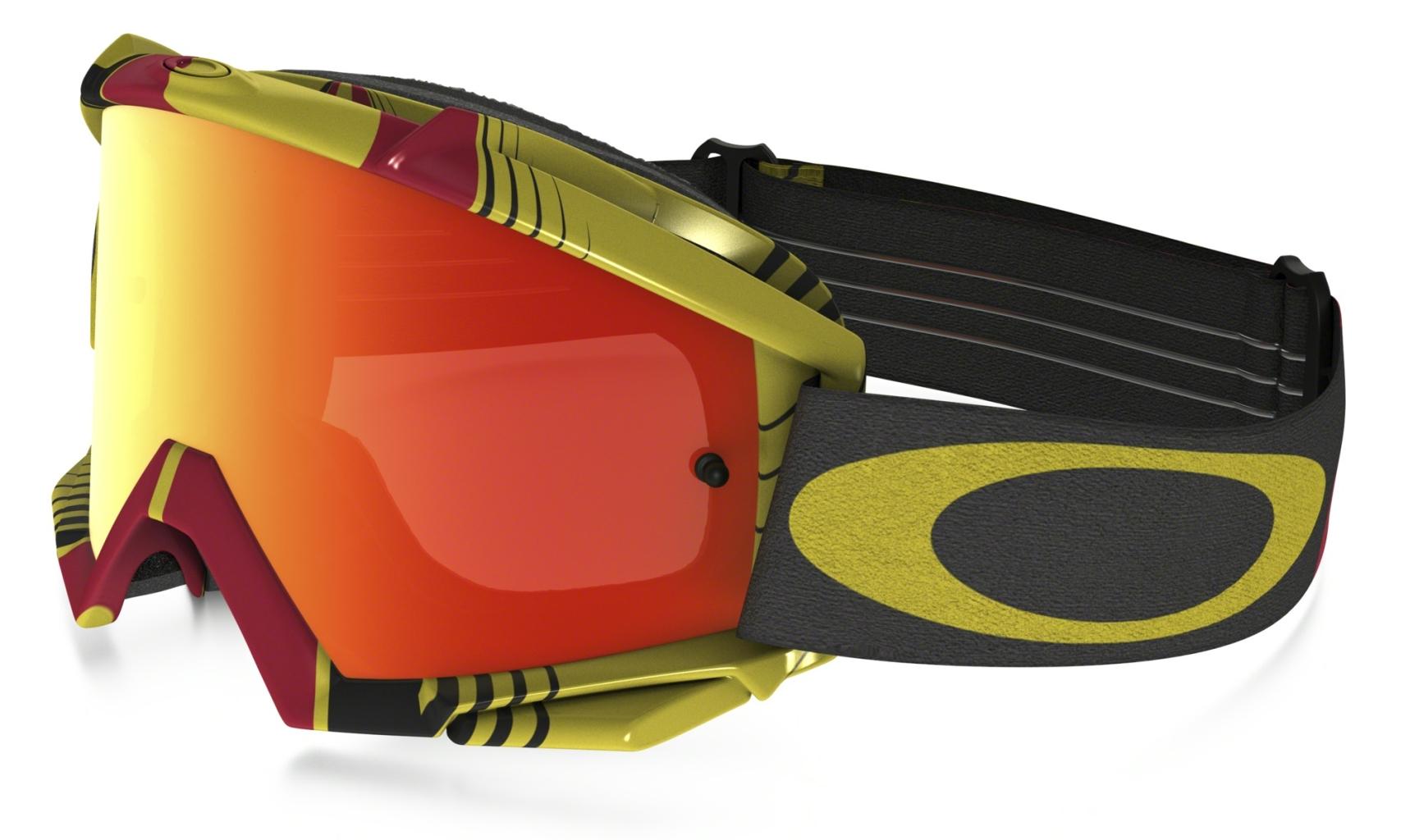 Oakley Proven MX BioHazard Red/Yel w/FireIrid-30