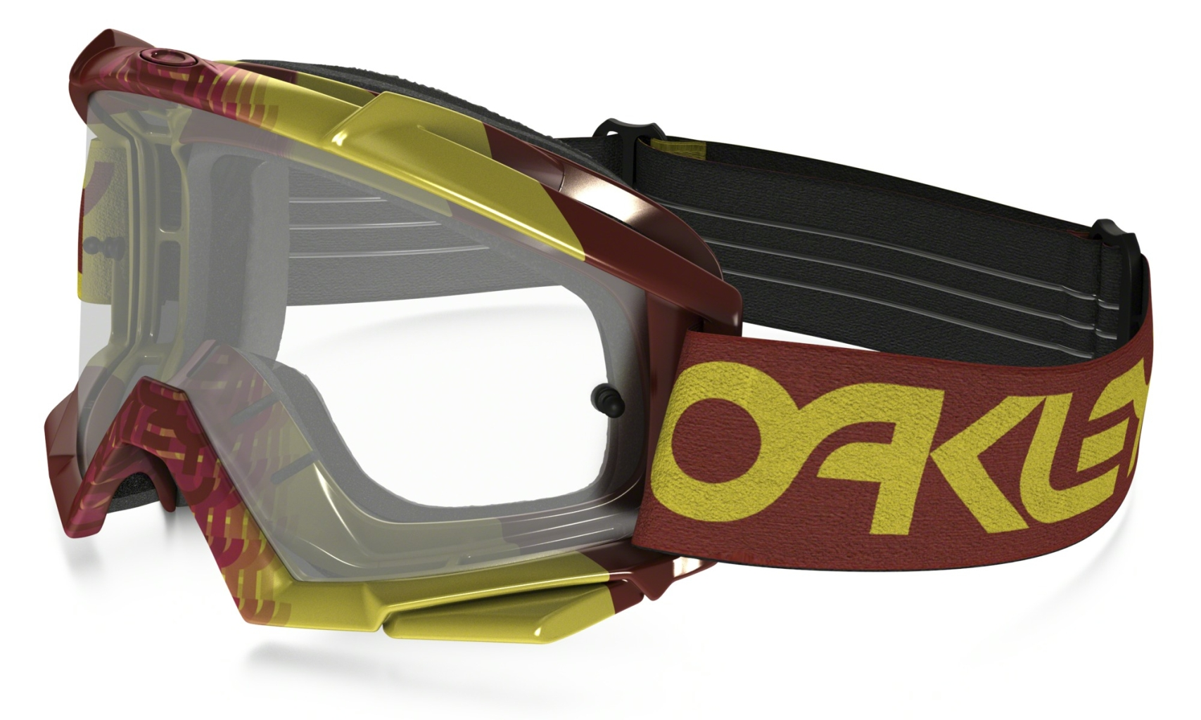 Oakley Proven Mx Frame: FACTORY FADE RED/YELLOW Lens: FIRE IRIDIUM-30