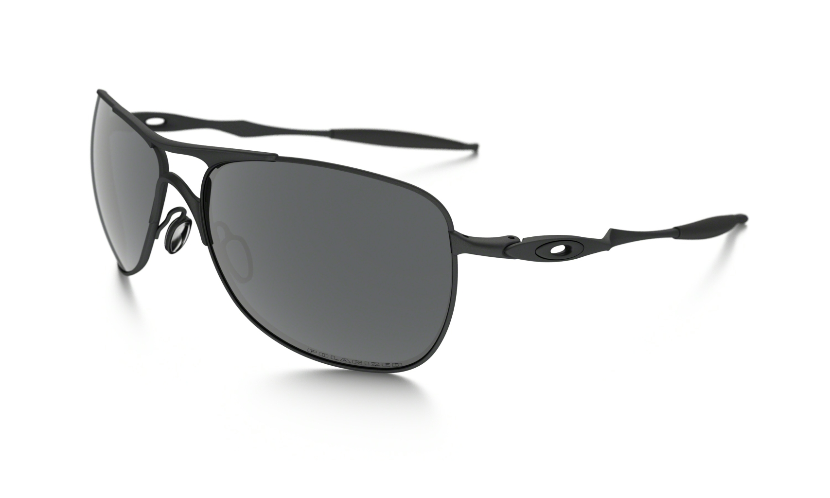 Oakley Titanuim Crosshair Frame: PEWTER Lens: BLACK IRIDIUM POLARIZED-30