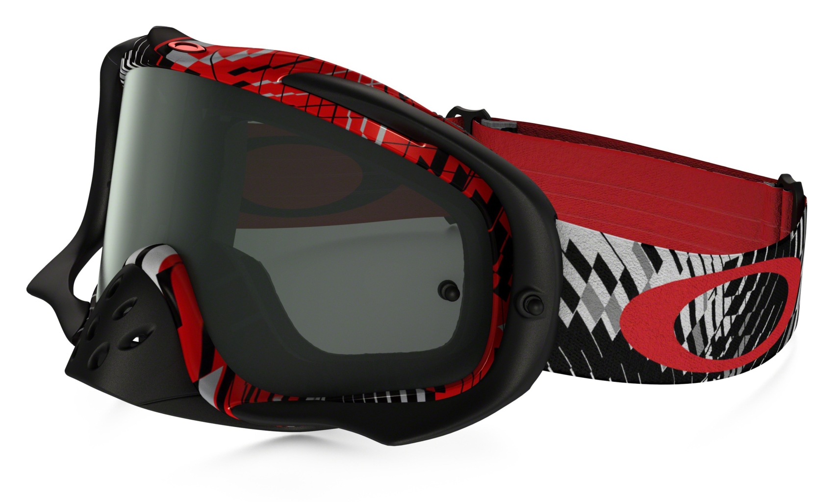 Oakley Crowbar Mx Podium Check Red/Blk w/Dk Gry-30