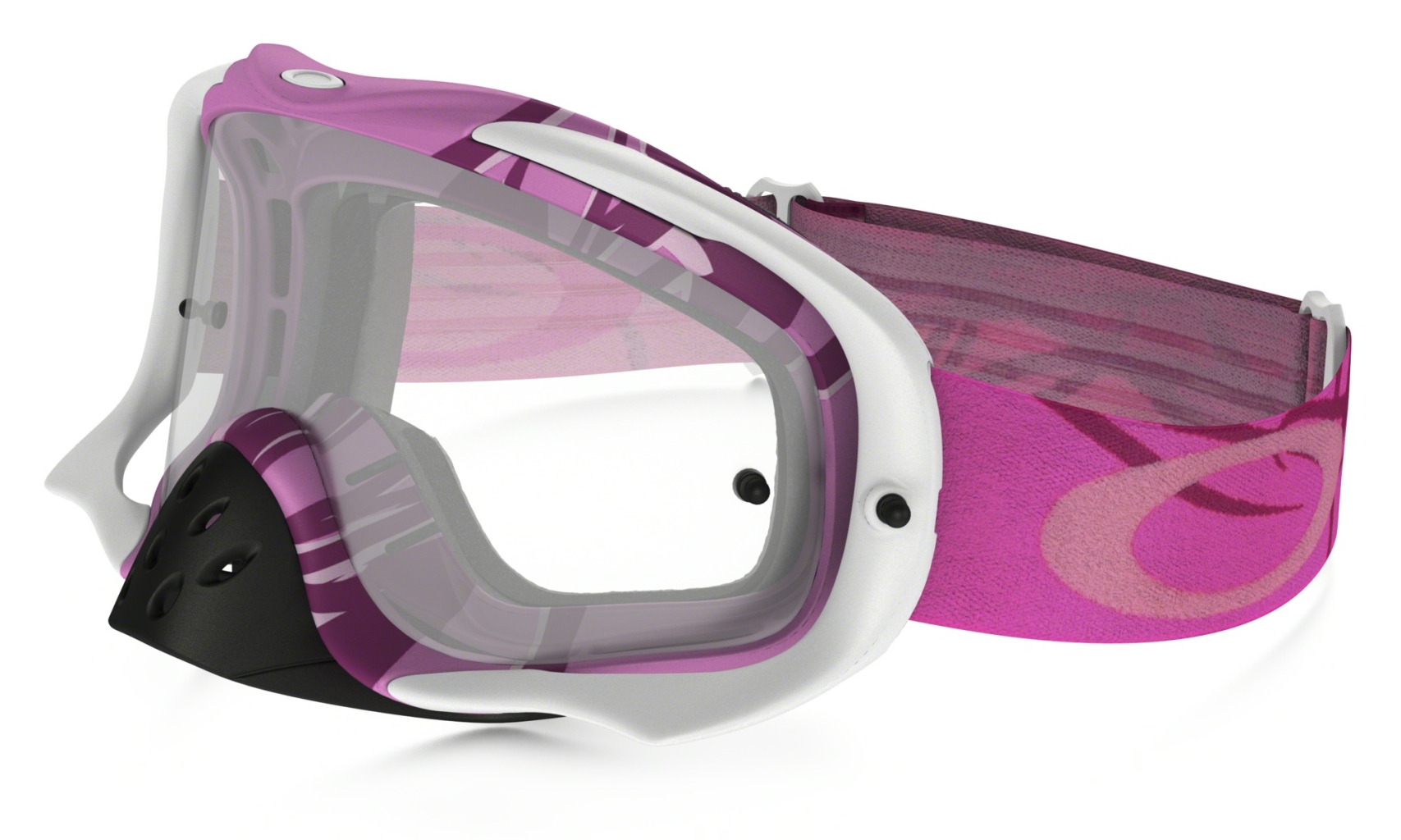 Oakley Crowbar MX Razorwire Pink/Rose w/Clear-30