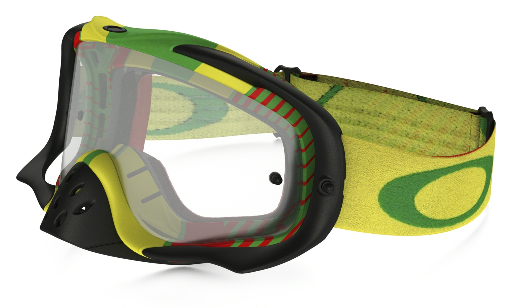 Oakley Crowbar MX Bio Hazard Rasta w/Clear-30