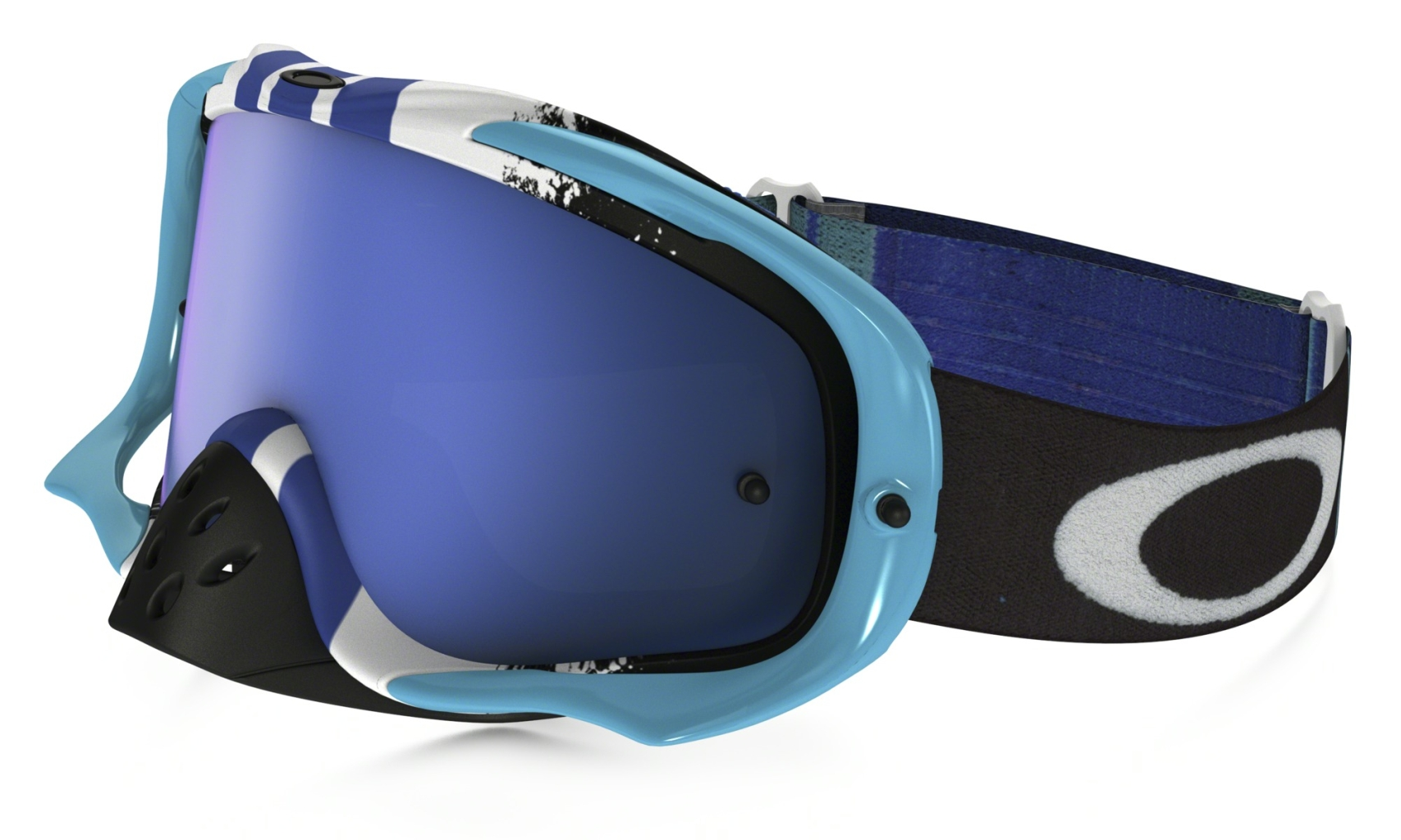 Oakley Crowbar Mx Frame: PINNED RACE BLUE/WHITE Lens: BLACK ICE IRIDIUM & CLEAR-30