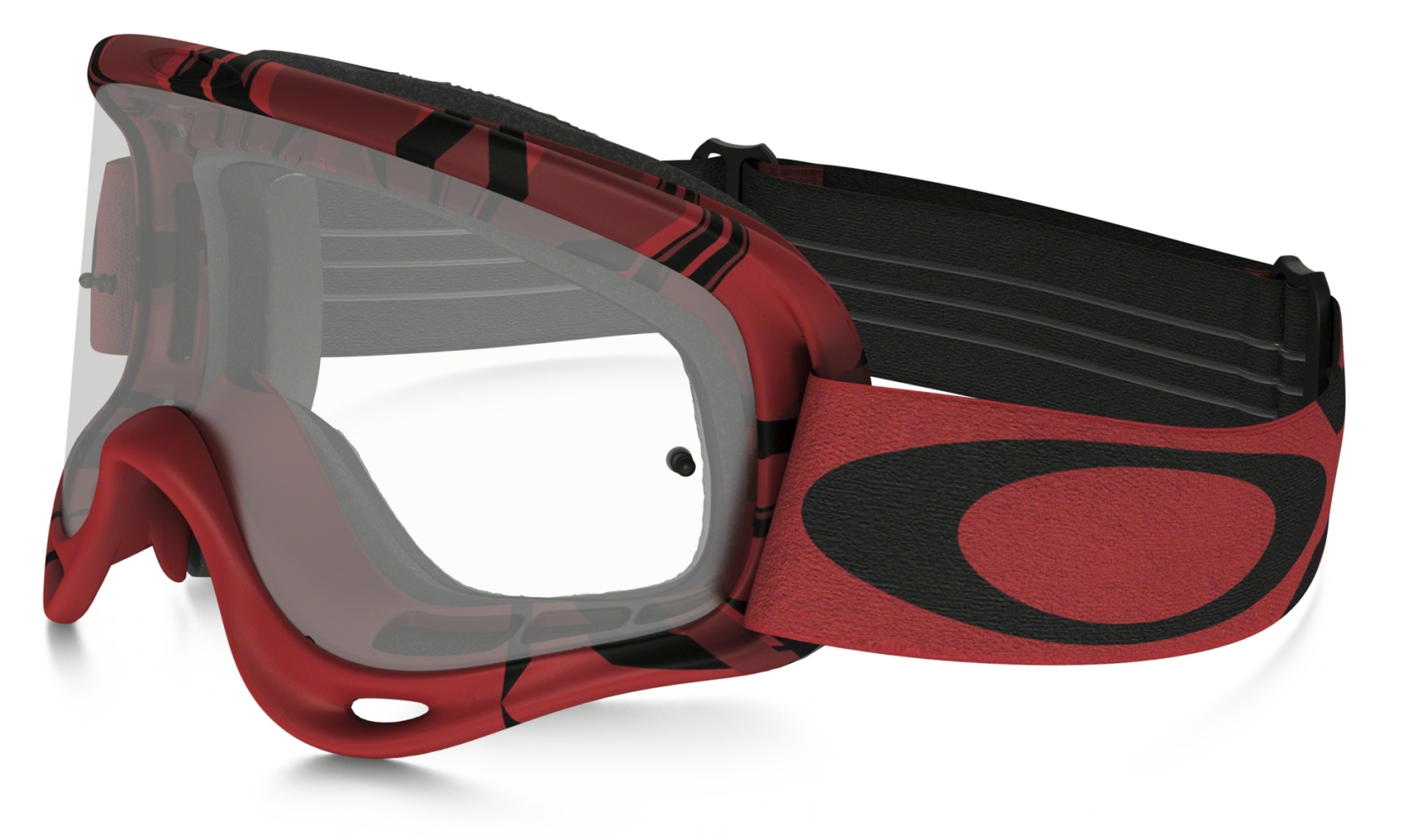 Oakley O Frame MX Intimidator Red/Black w/Clear-30