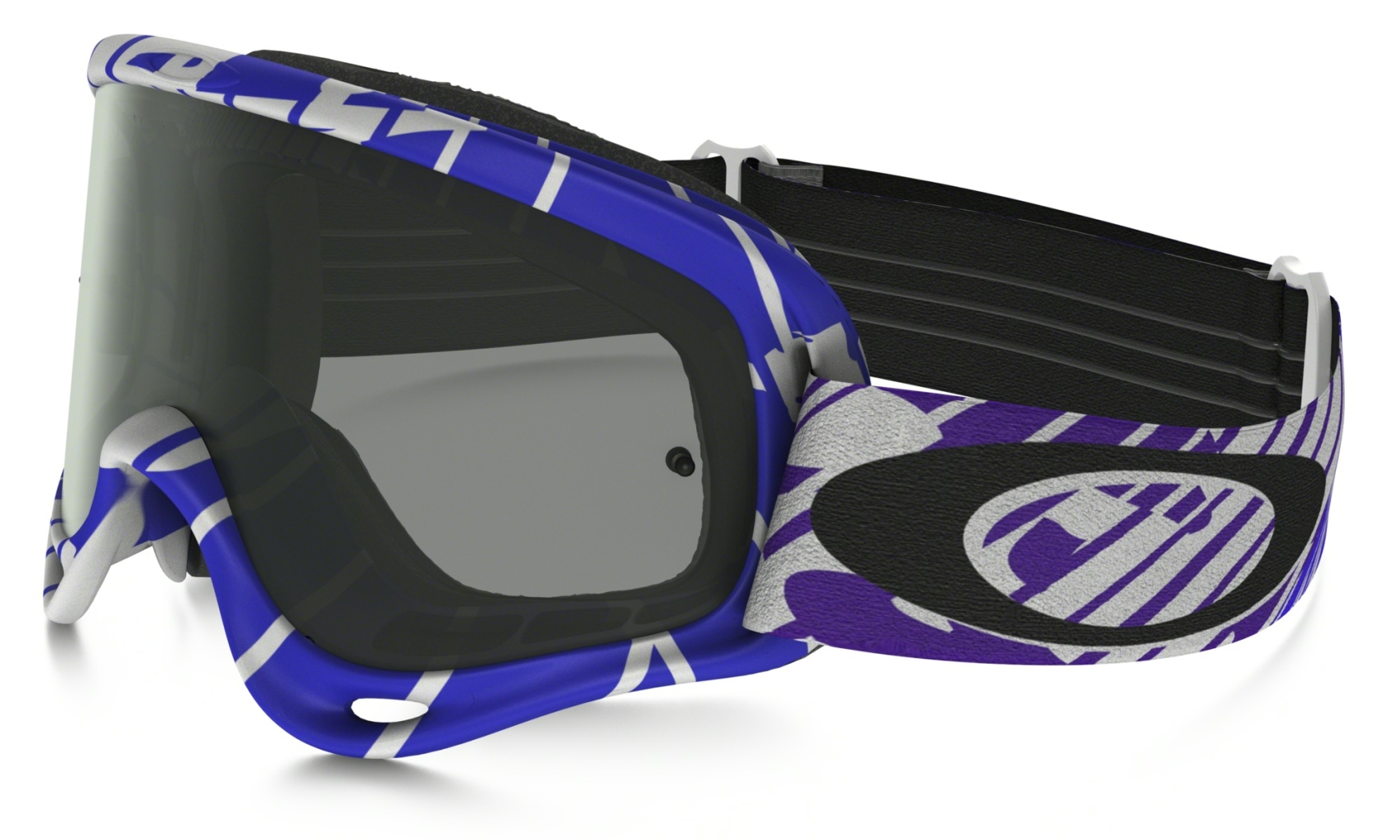 Oakley O Frame Mx Frame: SKULL RUSHMORE WHITE/PURPLE Lens: DARK GREY & CLEAR-30