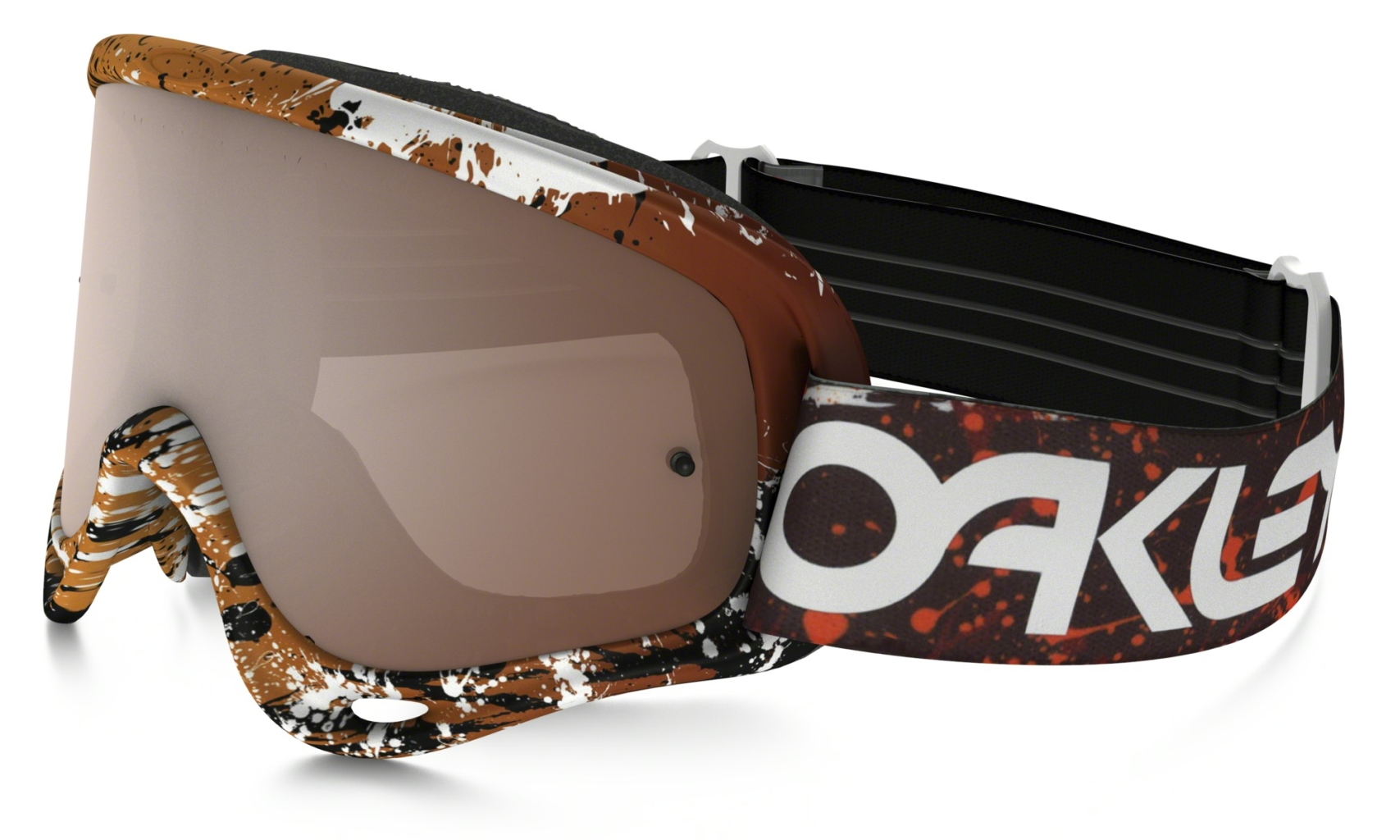 Oakley O Frame Mx Frame: SPLATTER BLOOD ORANGE Lens: BLACK IRIDIUM & CLEAR-30