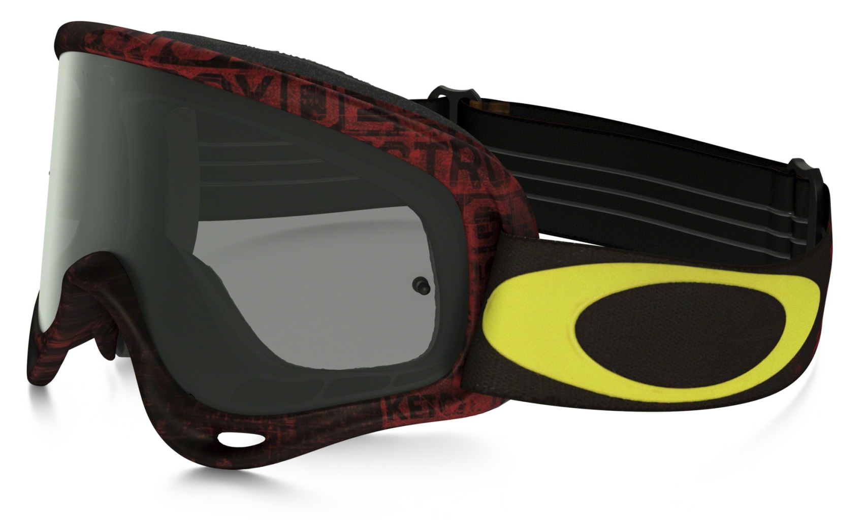 Oakley O Frame Mx Frame: DISTRESS TAGLINE RED/YELLOW Lens: DARK GREY-30
