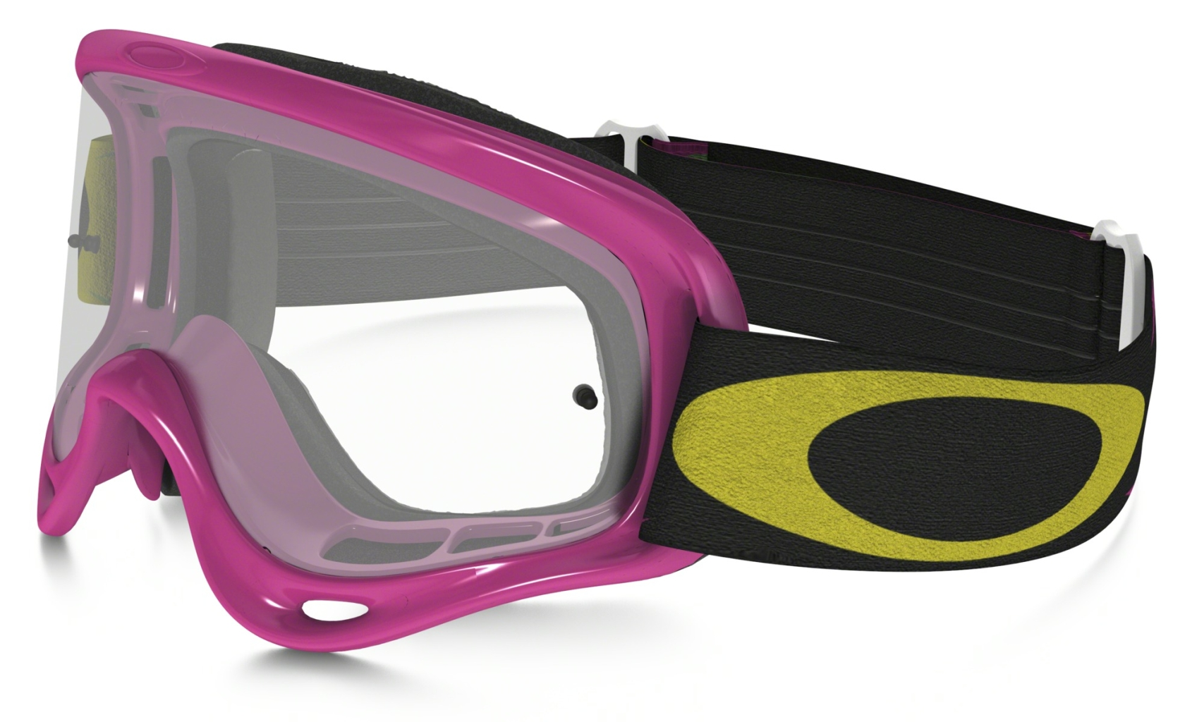 Oakley XS O Frame MX High Voltage Pink w/Clear-30