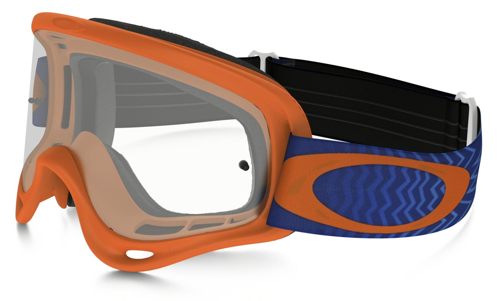 Oakley XS O Frame MX Shockwave Orange Blue w/Clear-30