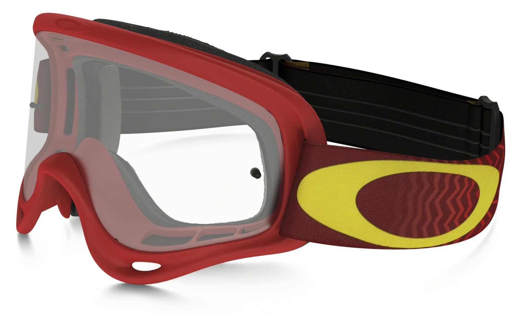 Oakley Xs O Frame Mx Shockwave Red Yellow w/Clear-30
