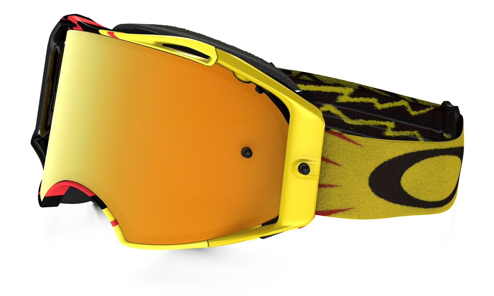Oakley Airbrake Mx Frame: HIGH VOLTAGE RED/YELLOW Lens: 24K IRIDIUM-30