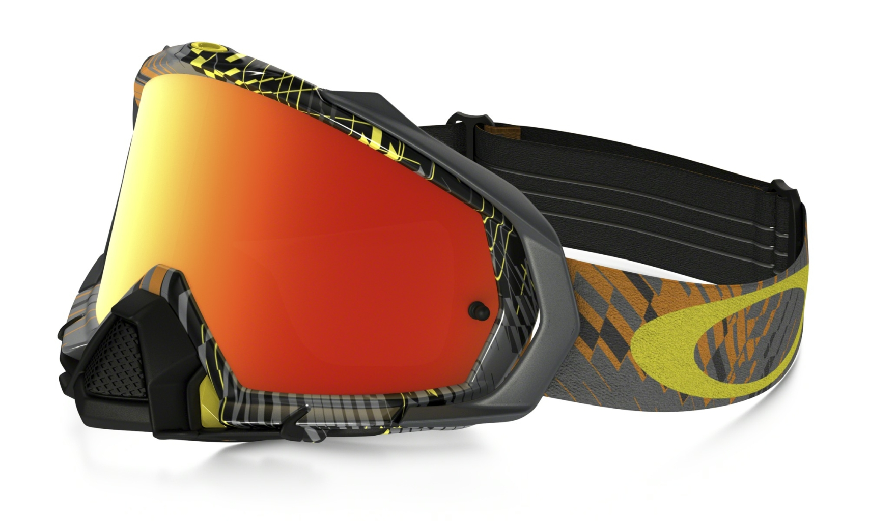 Oakley Mayhem Pro MX Podium Check Orange w/Fire-30