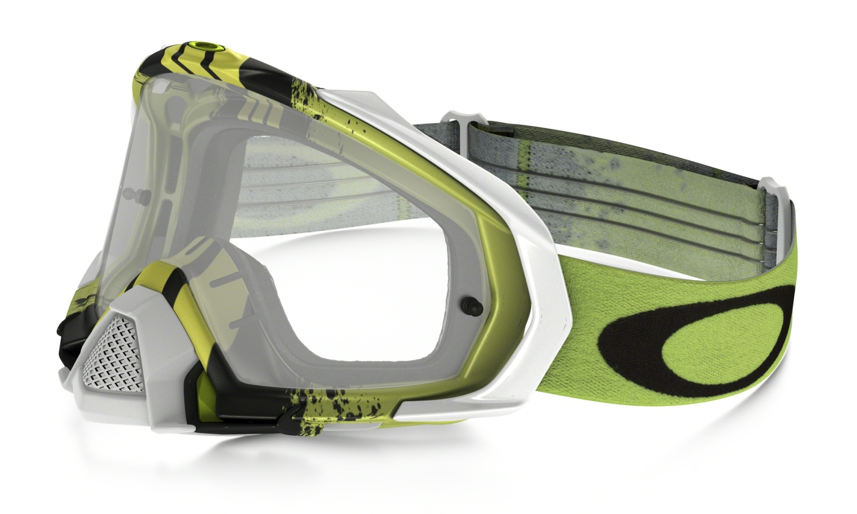 Oakley Mayhem Pro Mx Frame: PINNED RACE GREEN YELLOW Lens: CLEAR-30