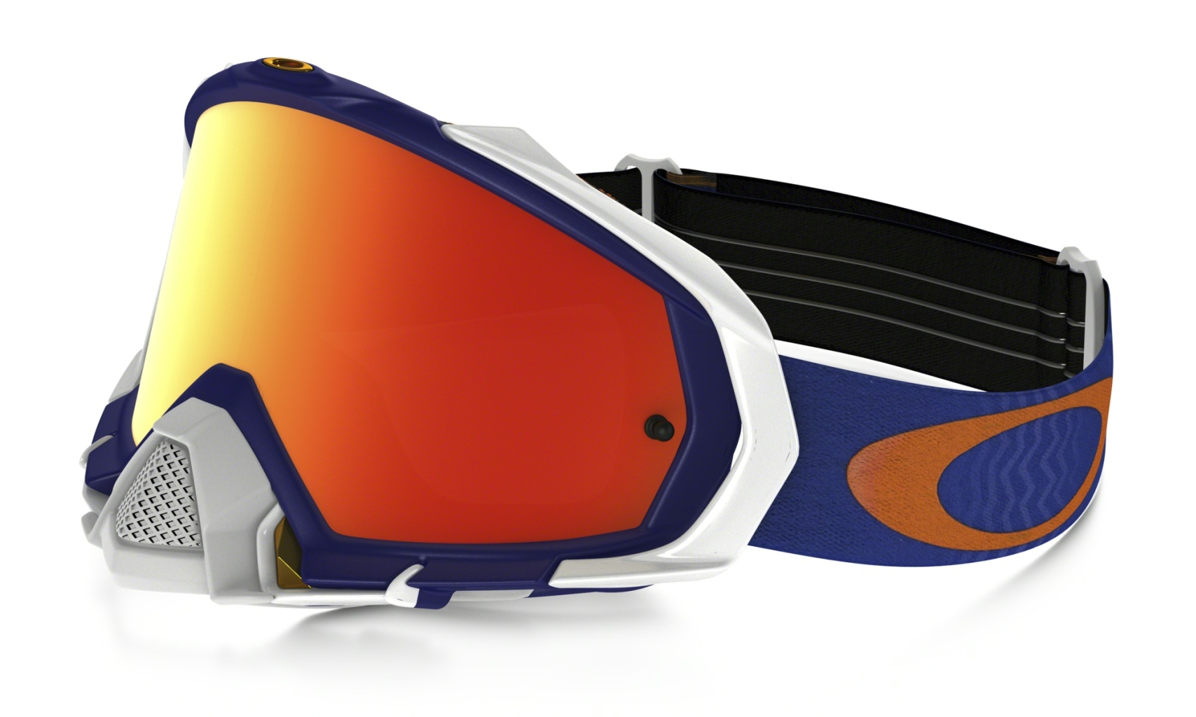 Oakley Mayhem Pro Mx Shockwave Blue Org w/Fire Irid-30