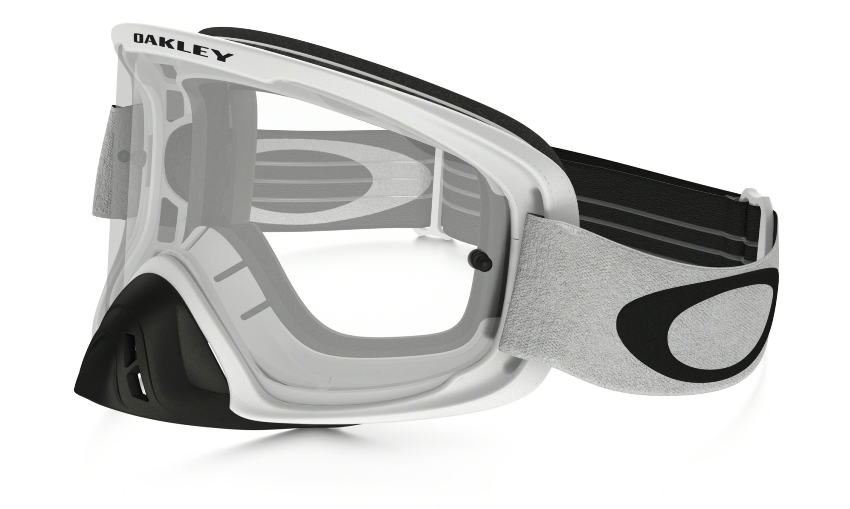 Oakley O2 MX Matte White w/Clear-30