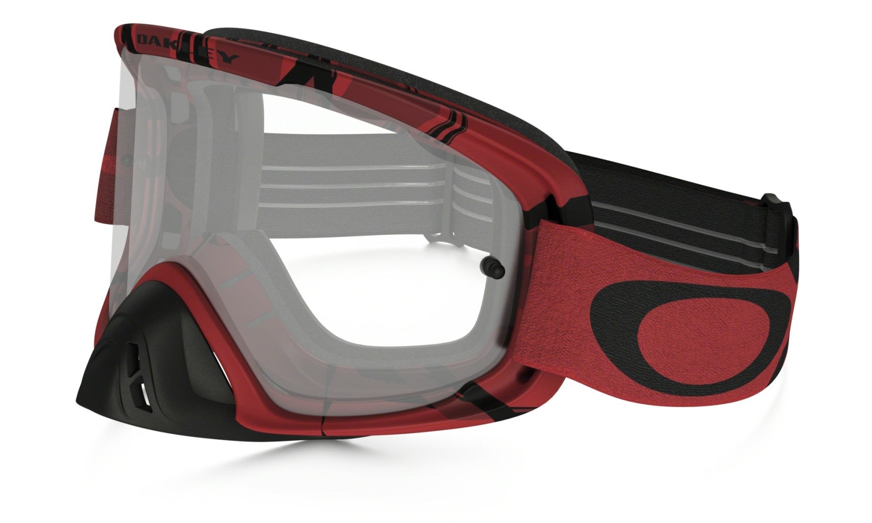 Oakley O2 MX Intimidator Blood Red w/Clear-30