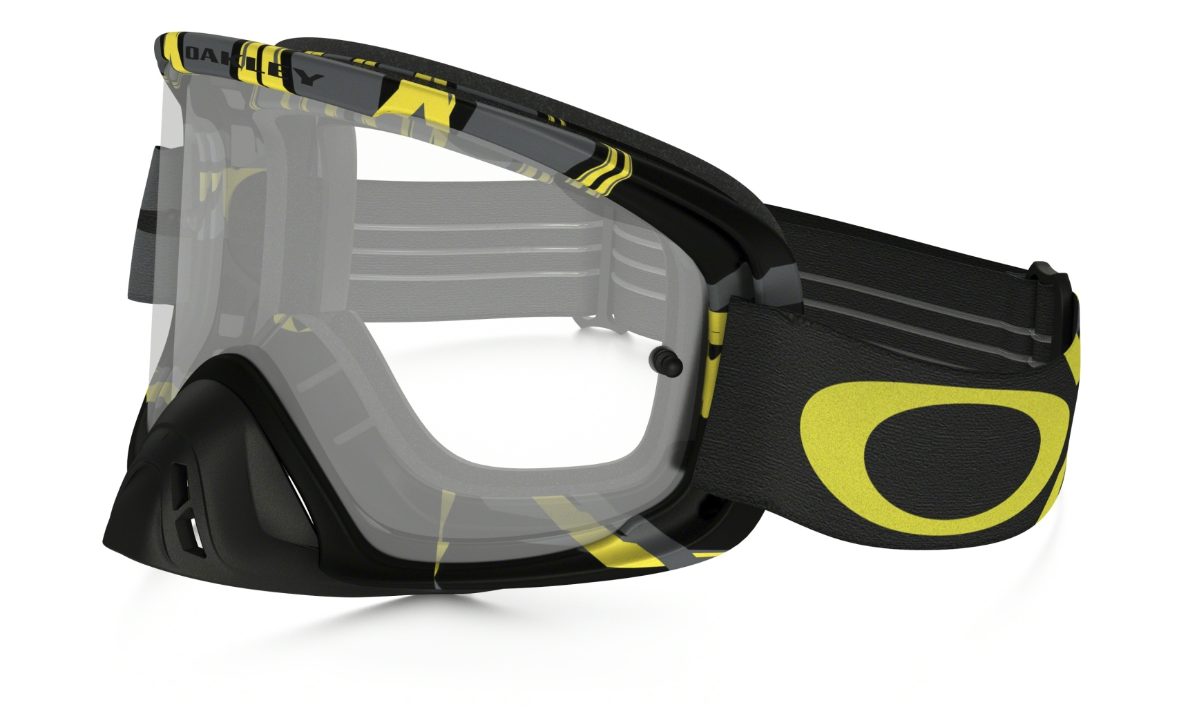 Oakley O2 MX Intimidator Gunmetal Yellow w/Clr-30
