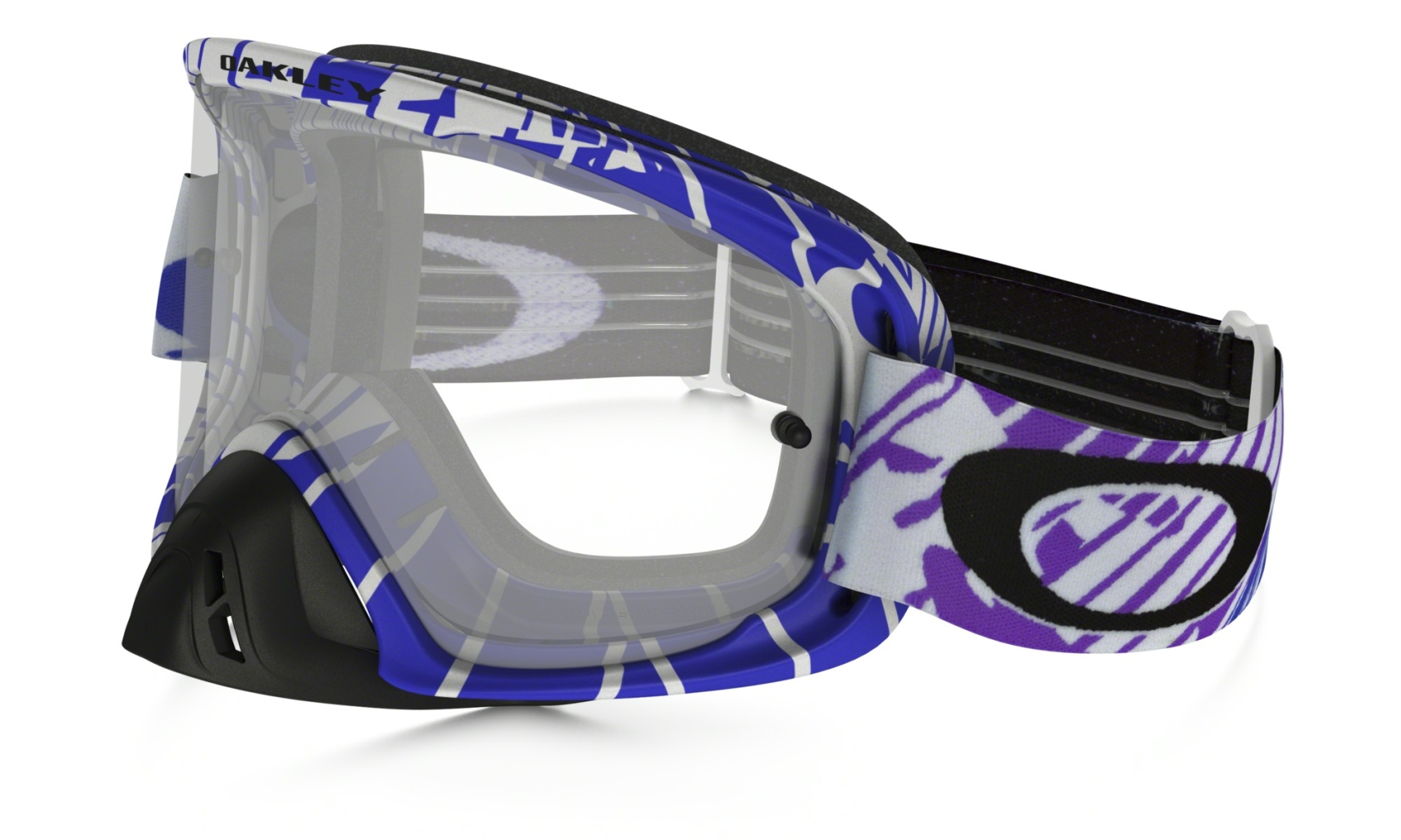 Oakley O2 Mx Frame: SKULL RUSHMORE PURPLE BLUE Lens: CLEAR-30