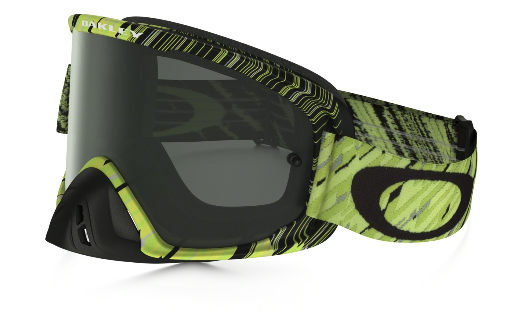 Oakley O2 Mx Frame: RAIN OF TERROR GREEN/YELLOW Lens: DARK GREY-30