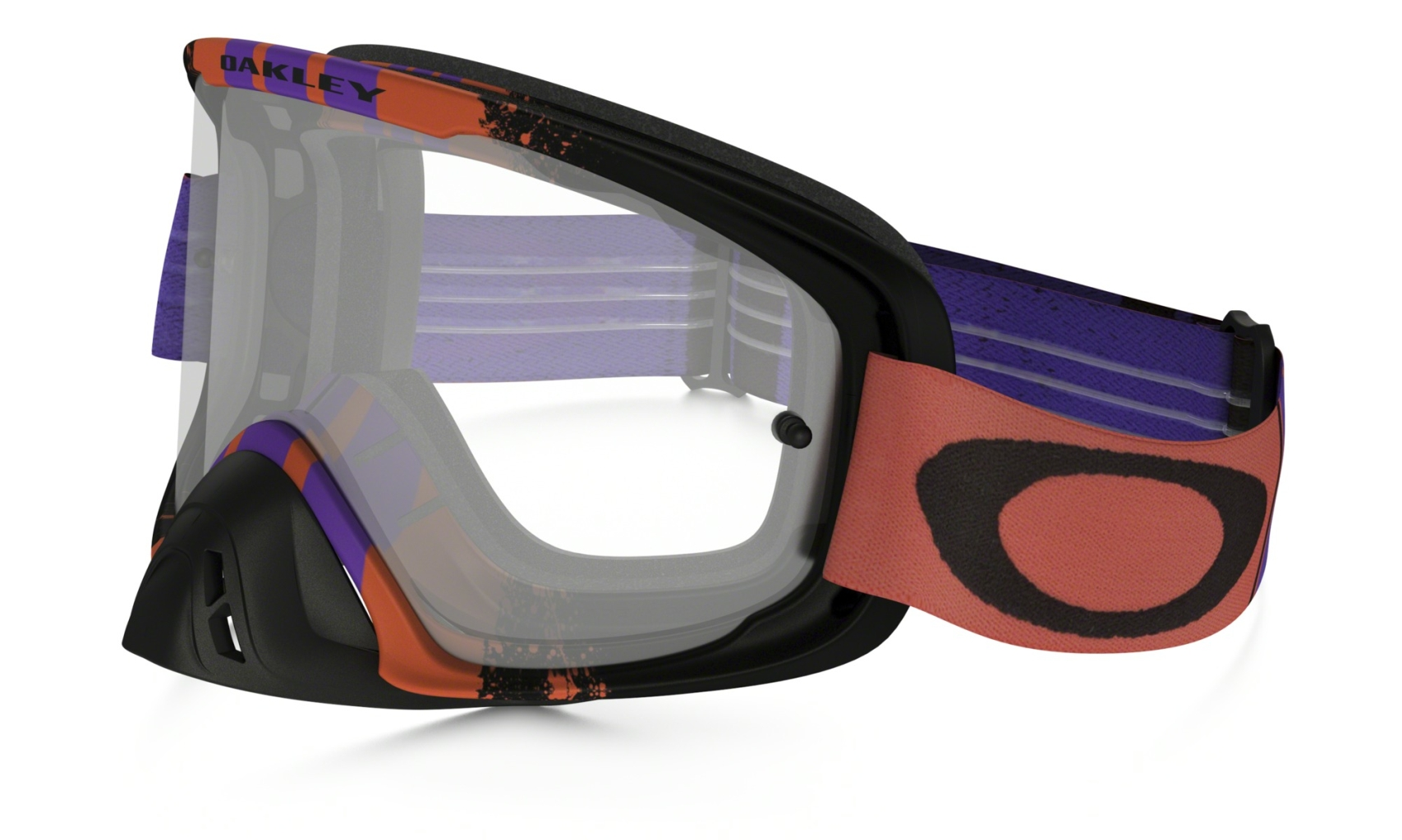 Oakley O2 MX Pinned Race Red Purple w/Clear-30