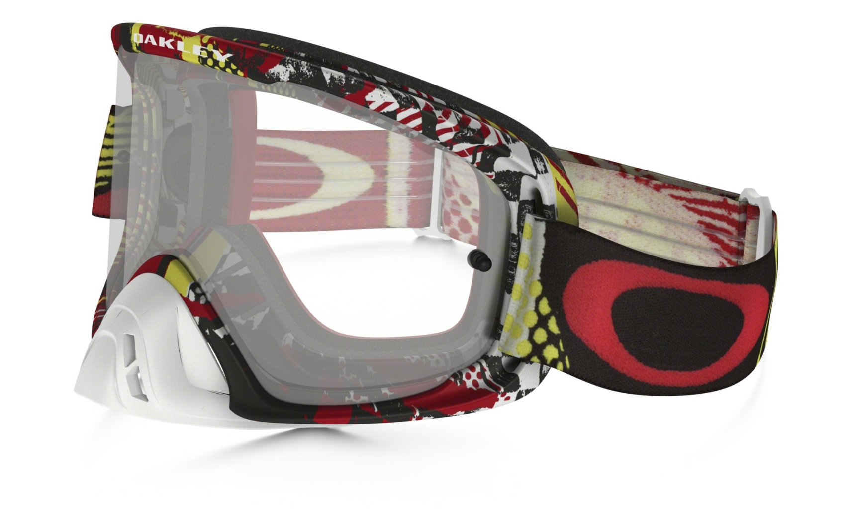 Oakley O2 MX Mosh Pit Red Yellow w/Clear-30