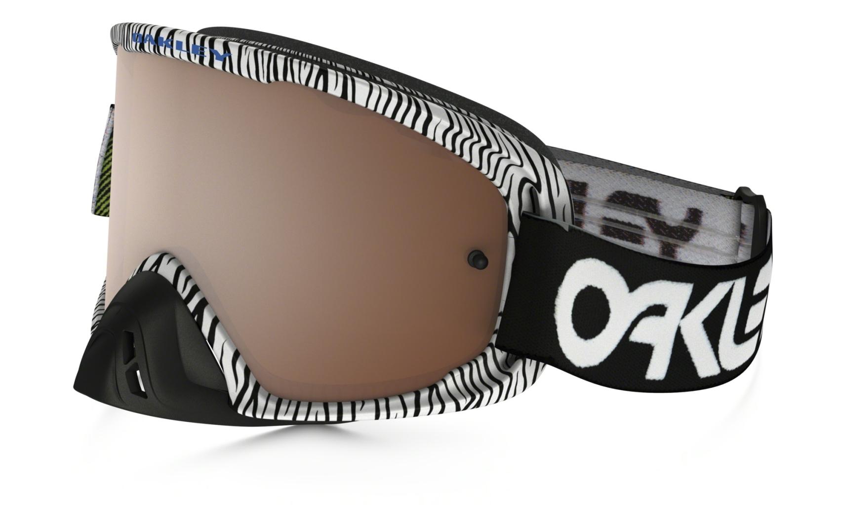 Oakley O2 Mx Frame: WHITE BENGAL Lens: BLACK IRIDIUM & CLEAR-30