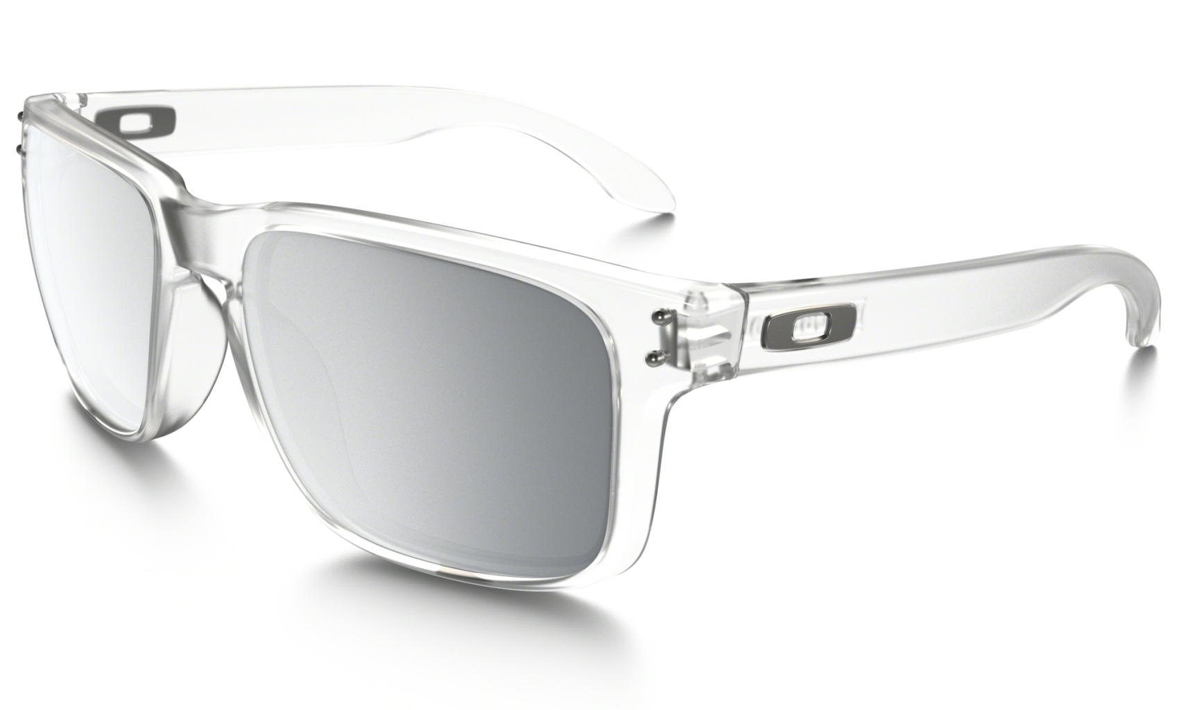 Oakley Holbrook Matte Clear w/Chrome Iridium-30