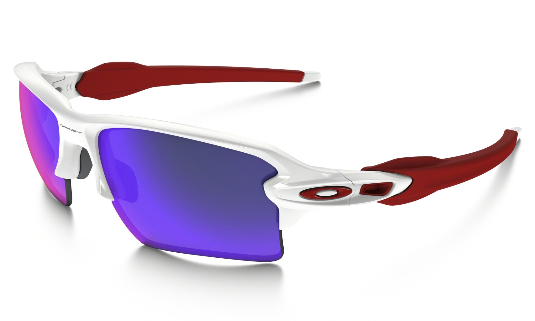 Oakley Flak 2.0 Xl Polished White w/+Red Irid-30
