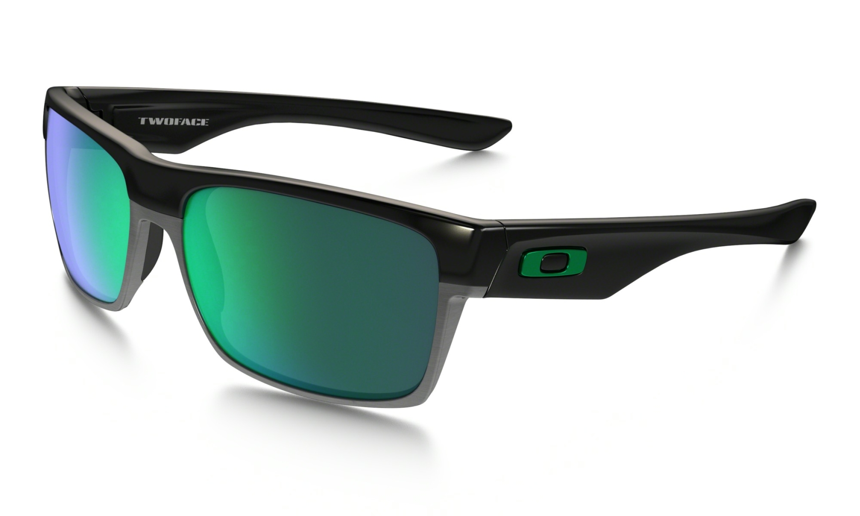 Oakley Two Face Polished Black w/ Jade Iridium-30