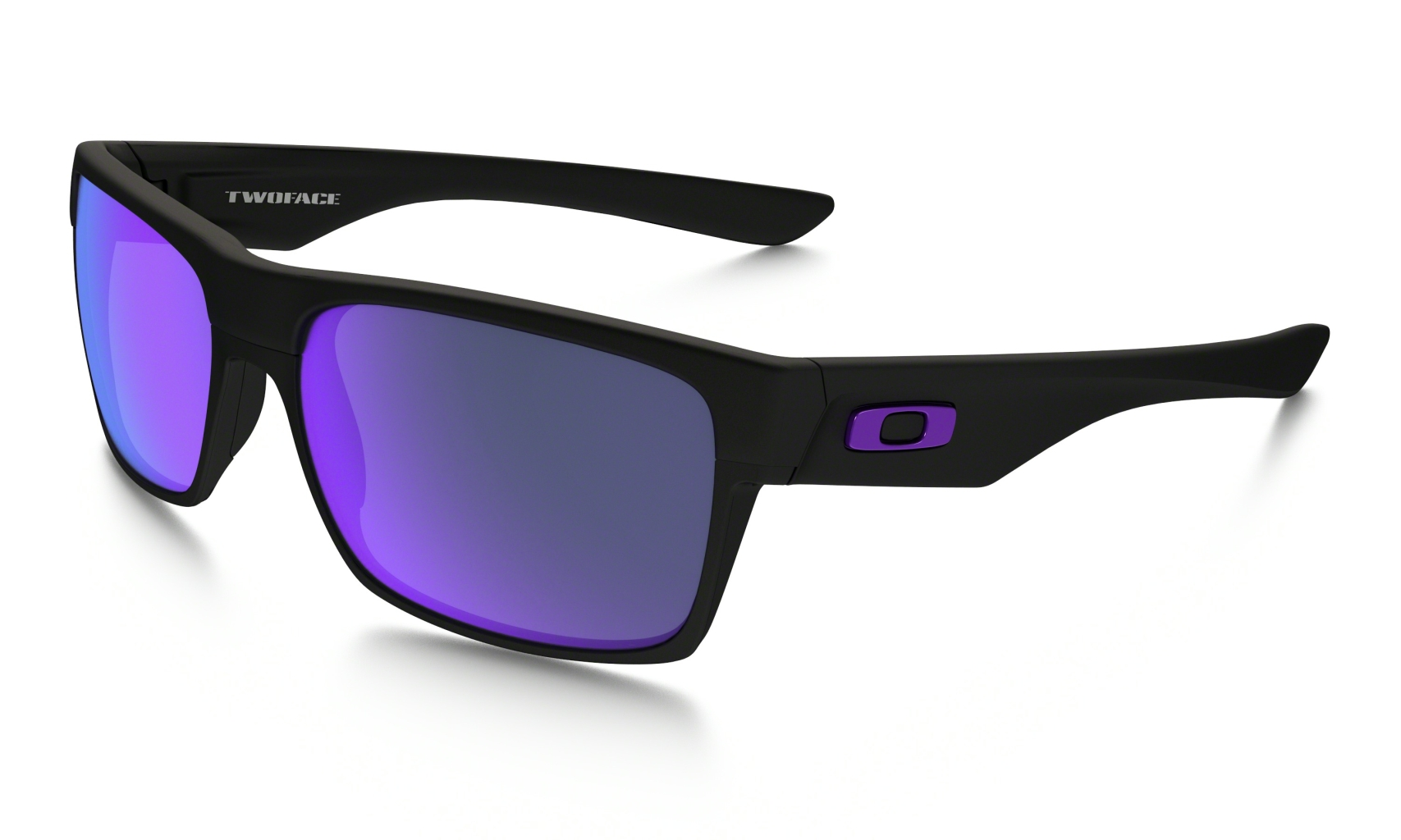 Oakley Two Face Matte Black w/ Violet Iridium-30