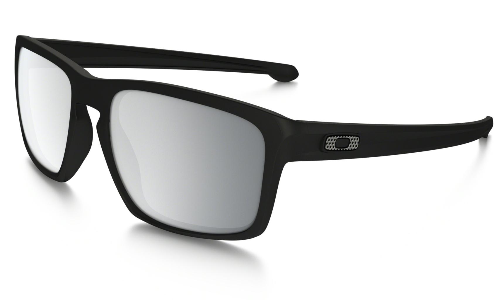 Oakley Sliver Machinist Matte Blk w/Chrome Irid-30