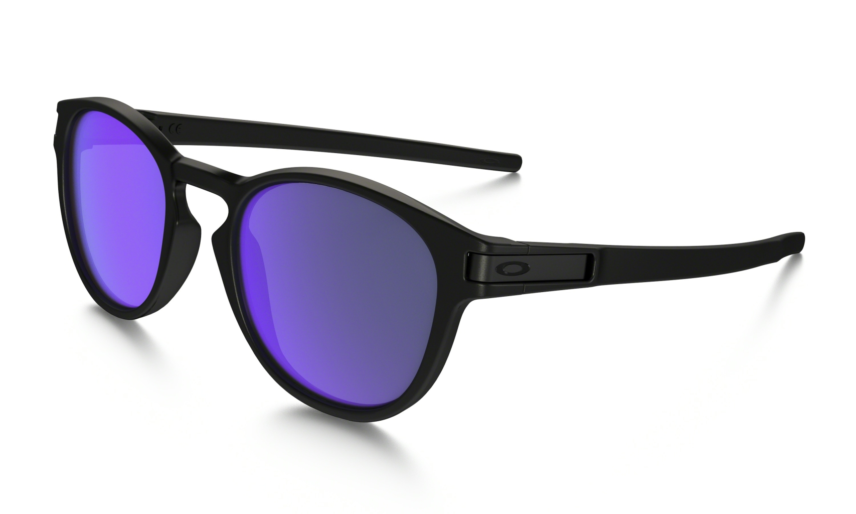 Oakley Latch Matte Black w/ Violet Iridium-30