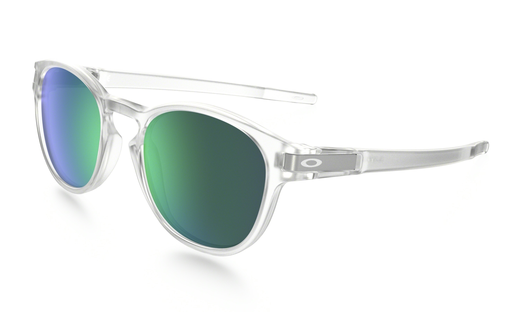 Oakley Latch Clear w/ Jade Iridium-30