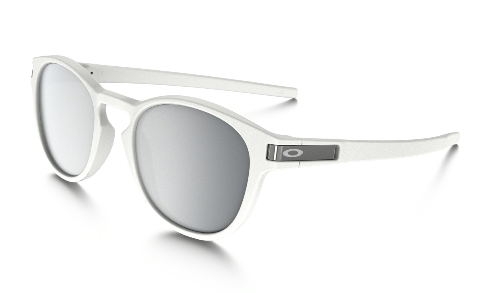 Oakley Latch Matte White w/ Chrome Irid-30