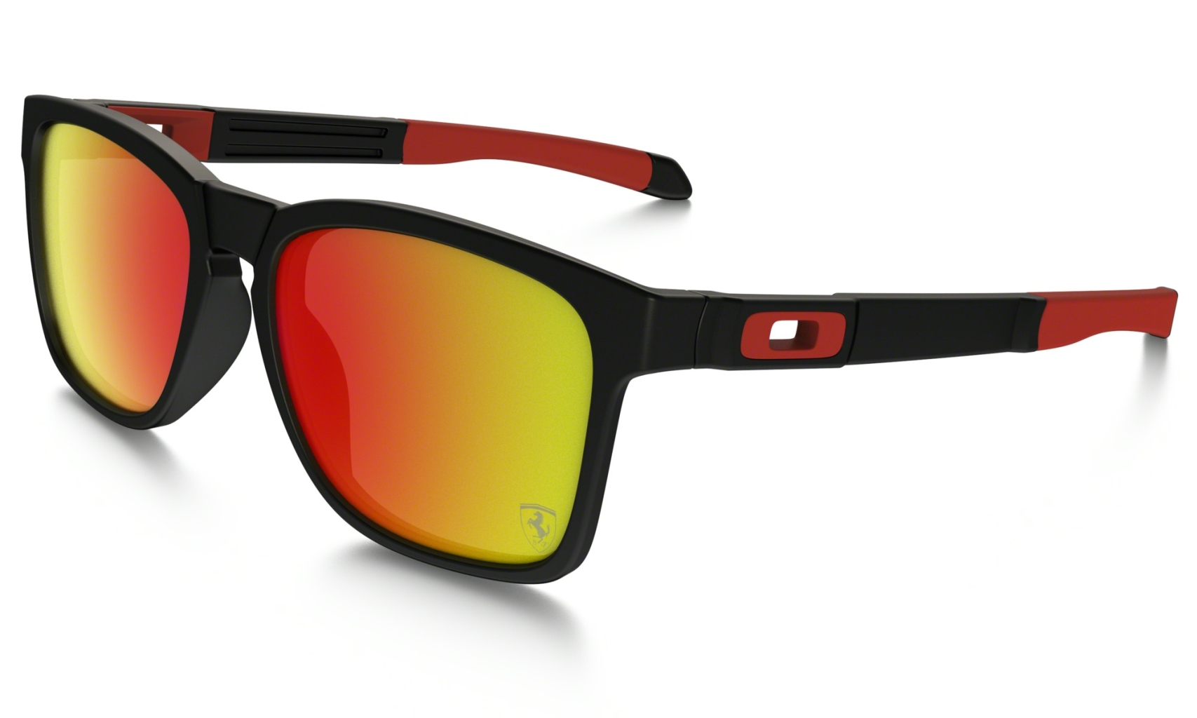 Oakley Catalyst Frame: MATTE BLACK Lens: RUBY IRIDIUM-30