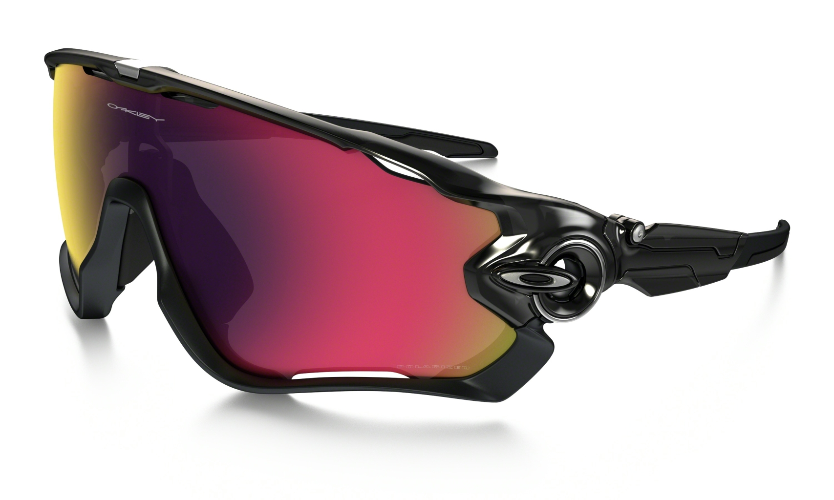 Oakley Jawbreaker Black Ink w/OO Red Irid Polar-30