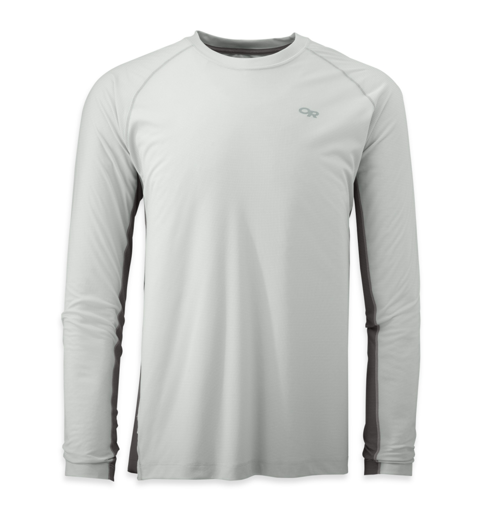 Outdoor Research Men's Echo L/S Duo Tee white/pewter-30